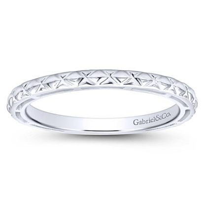 Gabriel 14k White Gold Stackable Ladies RingLR4583W4JJJ 41 416x416 - 14k White Gold Stackable Ladies Ring