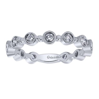 Gabriel 14k White Gold Stackable Ladies RingLR4584W44JJ 41 416x416 - 14k White Gold Stackable Diamond Ladies Ring