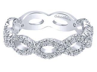 Gabriel 14k White Gold Stackable Ladies RingLR4589W45JJ 11 1 324x243 - 14k White Gold Stackable Diamond Ladies' Ring