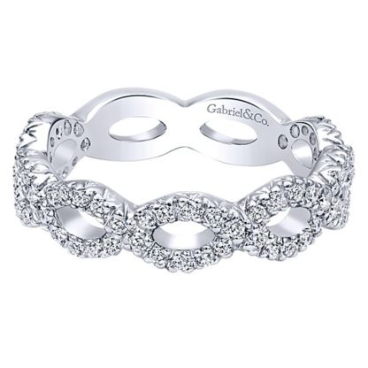Gabriel 14k White Gold Stackable Ladies RingLR4589W45JJ 11 1 416x416 - 14k White Gold Stackable Diamond Ladies' Ring