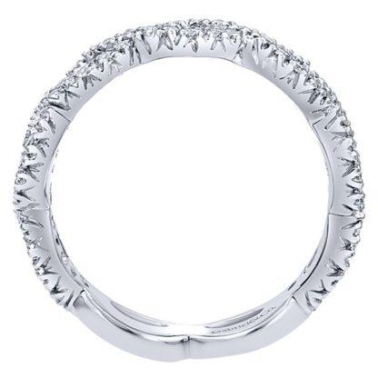 Gabriel 14k White Gold Stackable Ladies RingLR4589W45JJ 21 416x416 - 14k White Gold Stackable Diamond Ladies' Ring