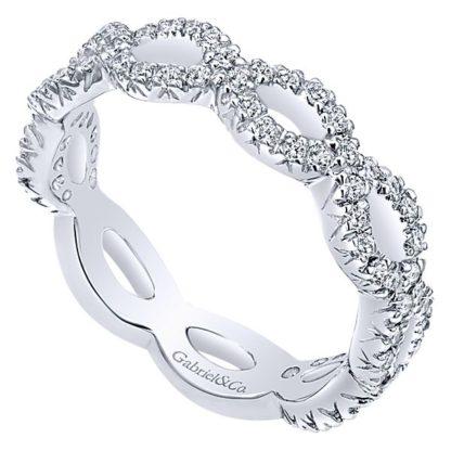 Gabriel 14k White Gold Stackable Ladies RingLR4589W45JJ 31 416x416 - 14k White Gold Stackable Diamond Ladies' Ring