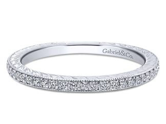 Gabriel 14k White Gold Stackable Ladies RingLR4793W45JJ 11 324x243 - 14k White Gold Stackable Diamond Ladies' Ring