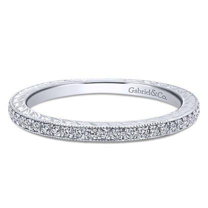 Gabriel 14k White Gold Stackable Ladies RingLR4793W45JJ 11 416x416 - 14k White Gold Stackable Diamond Ladies' Ring