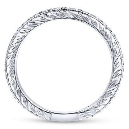 Gabriel 14k White Gold Stackable Ladies RingLR4793W45JJ 21 416x416 - 14k White Gold Stackable Diamond Ladies' Ring