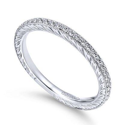 Gabriel 14k White Gold Stackable Ladies RingLR4793W45JJ 31 416x416 - 14k White Gold Stackable Diamond Ladies' Ring