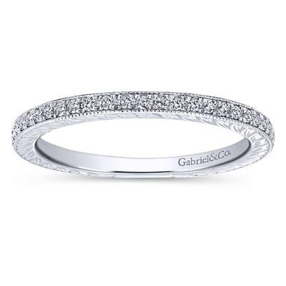 Gabriel 14k White Gold Stackable Ladies RingLR4793W45JJ 41 416x416 - 14k White Gold Stackable Diamond Ladies' Ring