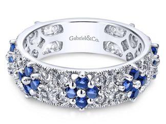 Gabriel 14k White Gold Stackable Ladies RingLR4850W45SA 11 324x243 - 14k White Gold Stackable Ladies' Ring
