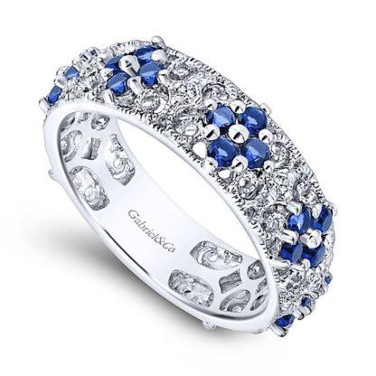 Gabriel 14k White Gold Stackable Ladies RingLR4850W45SA 31 416x416 - 14k White Gold Stackable Diamond A Quality Sapphire Ladies' Ring