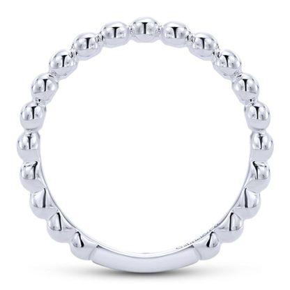 Gabriel 14k White Gold Stackable Ladies RingLR4871W4JJJ 21 416x416 - 14k White Gold Stackable Ladies' Ring