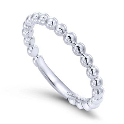 Gabriel 14k White Gold Stackable Ladies RingLR4871W4JJJ 31 416x416 - 14k White Gold Stackable Ladies' Ring