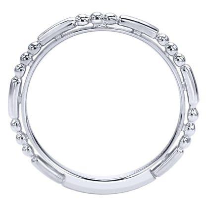 Gabriel 14k White Gold Stackable Ladies RingLR4909CW4JJJ 21 416x416 - 14k White Gold Stackable Ladies' Ring