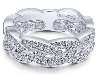 Gabriel 14k White Gold Stackable Ladies RingLR5673W45JJ 11 324x243 - 14k White Gold Stackable Ladies' Ring