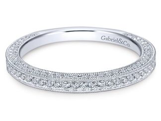 Gabriel 14k White Gold Victorian Straight Wedding BandWB7256W44JJ 11 324x243 - Vintage 14k White Gold Round Straight Diamond