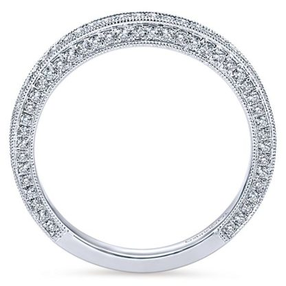 Gabriel 14k White Gold Victorian Straight Wedding BandWB7256W44JJ 21 416x416 - Vintage 14k White Gold Round Straight Diamond