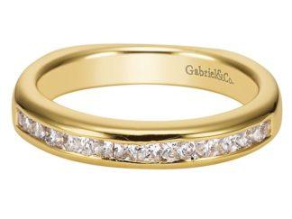 Gabriel 14k Yellow Gold Contemporary Straight Wedding BandWB3965Y44JJ 11 324x243 - 14k Yellow Gold Straight Diamond Wedding Band