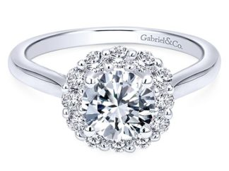 Gabriel Althea 14k White Gold Round Halo Engagement RingER7498W44JJ 11 324x243 - 14k White Gold Round Curved Diamond