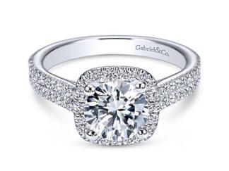 Gabriel Brianna 14k White Gold Round Halo Engagement RingER6984W44JJ 11 324x243 - 14k White Gold Round Halo Diamond