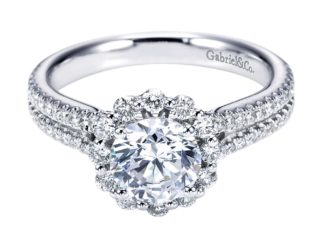 Gabriel Dixie 14k White Gold Round Halo Engagement RingER6710W44JJ 11 324x243 - 14k White Gold Straight Diamond