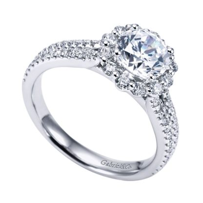 Gabriel Dixie 14k White Gold Round Halo Engagement RingER6710W44JJ 31 416x416 - 14k White Gold Round Halo Diamond