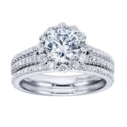 Gabriel Dixie 14k White Gold Round Halo Engagement RingER6710W44JJ 41 416x416 - 14k White Gold Round Halo Diamond