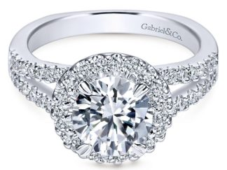 Gabriel Drew 14k White Gold Round Halo Engagement RingER4112W44JJ 11 324x243 - 14k White Gold Round Halo Diamond