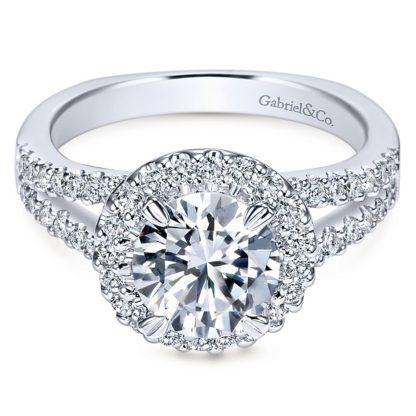 Gabriel Drew 14k White Gold Round Halo Engagement RingER4112W44JJ 11 416x416 - 14k White Gold Round Halo Diamond