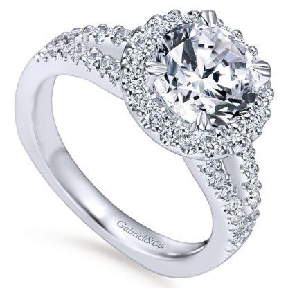 Gabriel Drew 14k White Gold Round Halo Engagement RingER4112W44JJ 31 416x416 - 14k White Gold Round Halo Diamond