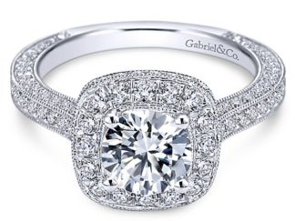 Gabriel Mariah 14k White Gold Round Halo Engagement RingER7256W44JJ 11 324x243 - Vintage 14k White Gold Round Halo Diamond