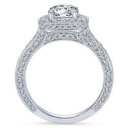 Gabriel Mariah 14k White Gold Round Halo Engagement RingER7256W44JJ 21 416x416 - Vintage 14k White Gold Round Halo Diamond