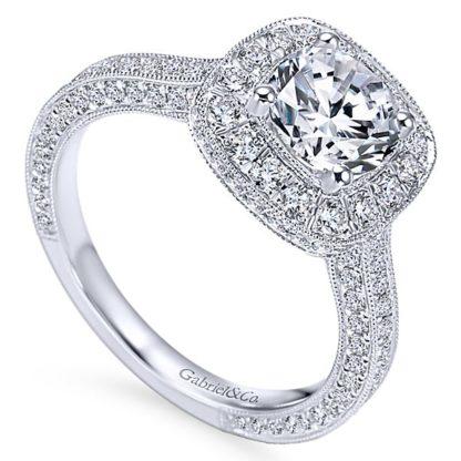 Gabriel Mariah 14k White Gold Round Halo Engagement RingER7256W44JJ 31 416x416 - Vintage 14k White Gold Round Halo Diamond