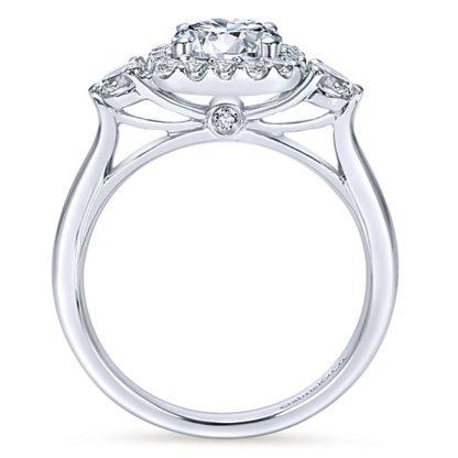 Gabriel Martine 14k White Gold Round 3 Stones Halo Engagement RingER7510W44JJ 21 416x416 - 14k White Gold Round 3 Stones Halo Diamond