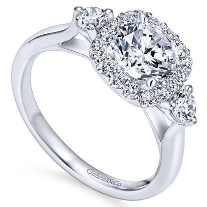 Gabriel Martine 14k White Gold Round 3 Stones Halo Engagement RingER7510W44JJ 31 416x416 - 14k White Gold Round 3 Stones Halo Diamond