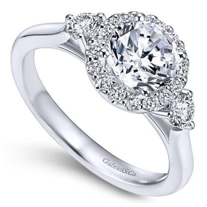 Gabriel Noelle 14k White Gold Round 3 Stones Halo Engagement RingER7482W44JJ 31 416x416 - 14k White Gold Round 3 Stones Halo Diamond