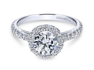 Gabriel Rachel 14k White Gold Round Halo Engagement RingER7261W44JJ 11 324x243 - 14k White Gold Round Halo Diamond